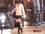 Japanese Whore Caught Sucking Her Lover. S Dick In The Street