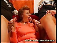 Nasty Granny Is Always In The Mood For Sex,  Even With Two Guys A
