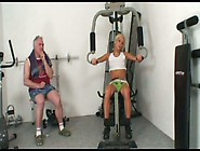 Horny Coach Jerks Off While Awesome Sporty Girlie Adela B Trains