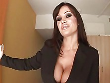 Incredible Lisa Ann Making A Guy Fuck Her In The Ass