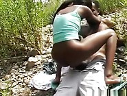 Ebony Fuck Girl Gets Fucked And Creampied In Nature