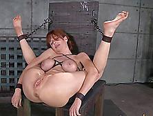 Redhead Slave Spreading Legs Superbly In Bdsm Porn