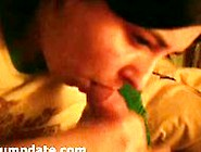 Shy Wife Gives Handjob And Gets Jizz On Mouth