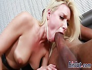 Lovely Blonde Has Her Hairy Muff Destroyed