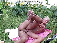 Cute Blondie Gets A Cock In The Nature