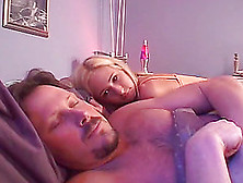 A Sleeping Babe Wakes Up,  Has Her Panties Peeled Off And Gets Fu