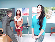 Naughty Student Gets Punished For Bad Behavior By Her Teacher