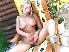 Blonde Busty Anette Dawn Gets Naked And Plays Her Cunt With Her