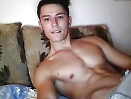 Handsome Athletic Boy Cums All Over His Hard Abs On Cam