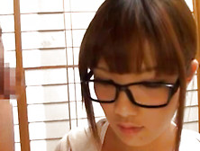 Elegant And Sexy Asian Whore With Glasses Is Giving Blowjob