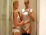A Very Young Lucy Zara With Natural Tits In The Shower With Fran
