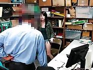 Brunette Slim Secretary Munching Fat Cock Boss In His Office