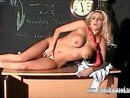 Slutty Blonde Schoolgirl Dannii Harwood Oils Up Her Big Juicy Ti