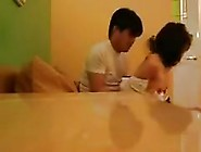 Naughty Asian Couple Fuck At The Dinner Table