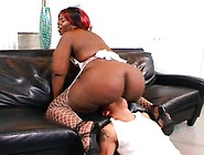 Voluptuous Chocolate Lady In Fishnets Jadah Is A Wild Sexual Bea
