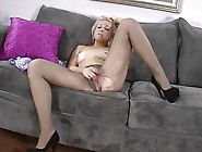 Solo Blonde Is Teasing In Pantyhose