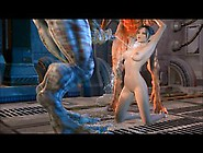 Several 3D Monsters Have Captured A Nice,  Slim Girl And Fucked H
