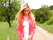 Outdoor Stripping With Pornstar In Nylons