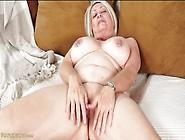 Granny With Sexy Nipple Rings Masturbates Her Hot Pussy