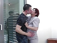 Well Skilled Granny Suck And Fuck Young Boy's Cock