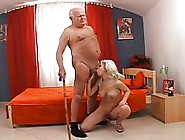 Horny Old Guy Is Fucking A Smoking Hot Blonde From His Neighborh