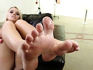 Babe Wiggles Cum Toes