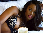 Gorgeous Ebony Playboy Model In Action On Different Sets