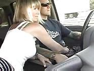 Girlfriend Jerks Him While Driving