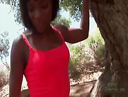 Fit Black Girl Ana Foxxx On A Hike Outdoors