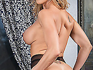 Mature Blonde Milf Caught Having Cybersex In Lingerie