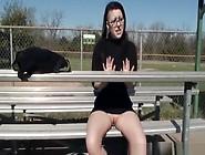 Exhibitionist Goth Chick Flashing In Public