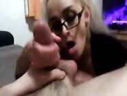 Sexy Schoolgirl Pov Blowjob,  Ball Sucking And Facial