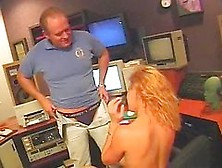 Blonde Singer Fucks Her Producer In The Studio