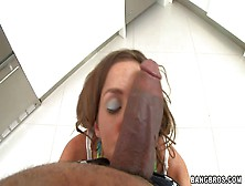 Slutty Brunette Kiera With Cheep Make