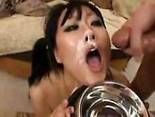 Dirty Asian Girl In An Interracial Gang Bang