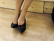 Awesome Shoe-Fetish Scene With My Wifey Doing Shopping