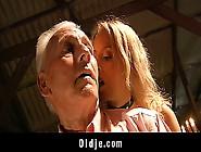 Old Dick Explored By Teeny Slut!