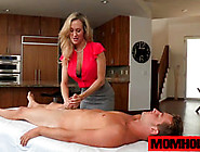 Milf Brandi Love Rubs Boyfriend Cock For Instant Relief