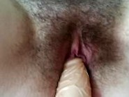 My Wife With Hairy Pussy Masturbates To Orgasm