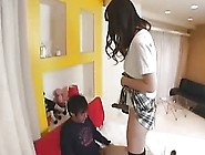 Skinny Asian Babe Uses Strap On Dildo On Dude
