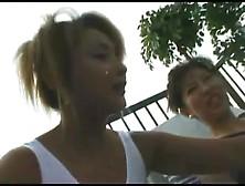 Sexy Japanese Shitting On A Balcony