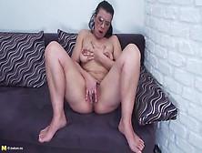 Hairy Mature Nerd Pleasures Her Pussy