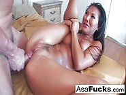 Skilled Asian Busty Slut Asa Akira Spread Her Legs For Rough Pus