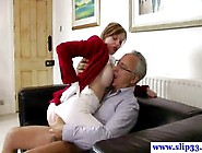 British Amateur Pussyfucked By An Old Mans Cock