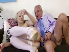 Old Teacher Getting Fresh Pussy In Here