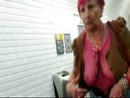 A Sexy Granny With See Thru Top No Bra