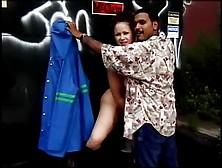 Girl rubbing boobs while dancing
