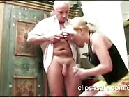 German Blonde Teen Is A Fucking Cock Addict & She Tortures Old M