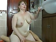 Russian Milf Likes To Fuck Younger Guys While No One Else Is At