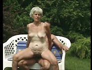 Hairy Bush Granny Fucked In The Grass